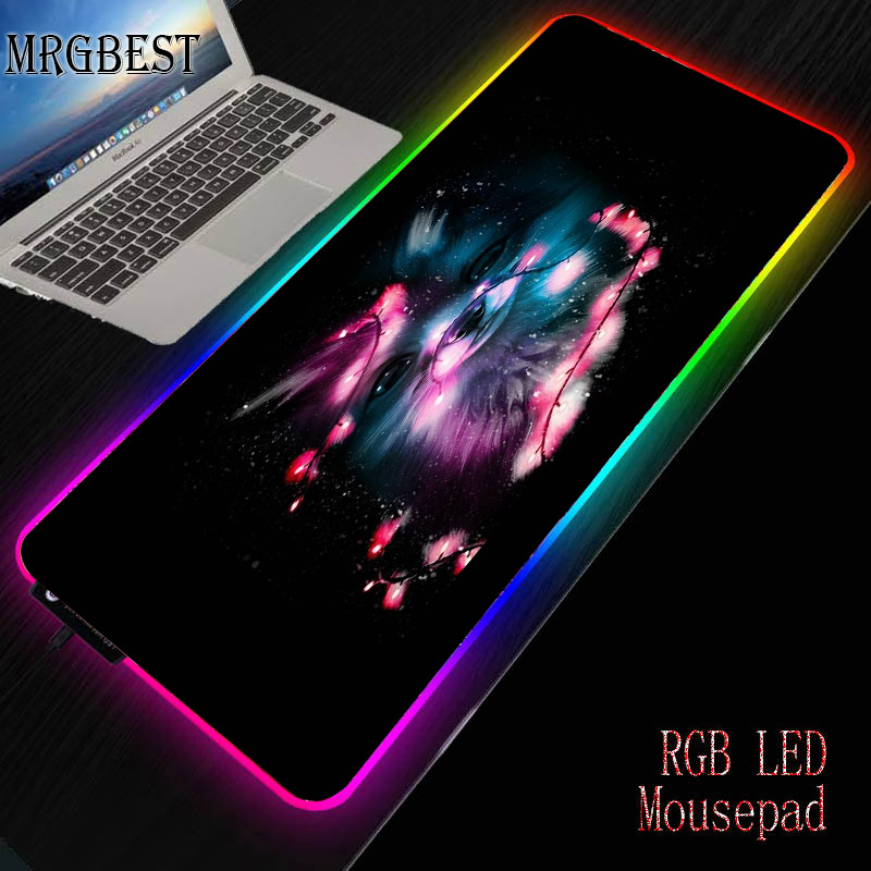 MRGBEST Animal Large Game RGB LED Mouse Pad Computer Advanced  Player Accessories 40x90cm Lock Control Colorful Desktop Mat