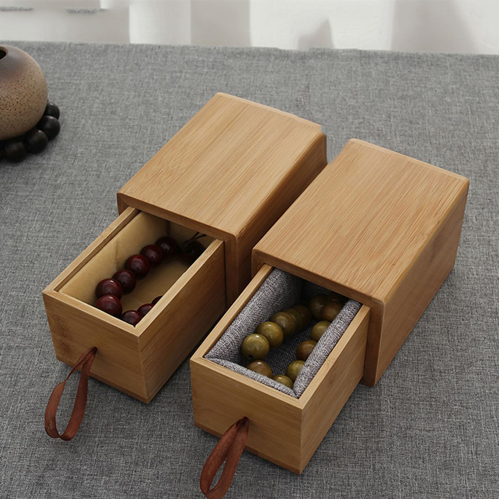 Handbags Rosary Premium Box Gift Box Natural Bamboo Wood Jewelry Collection Box Home Desktop Storage Decoration Box