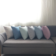 Cushion Jacquard Pillow 6 Style Solid Office Bedroom Decoration Polyester Pillowcase + Pillowcore Chair