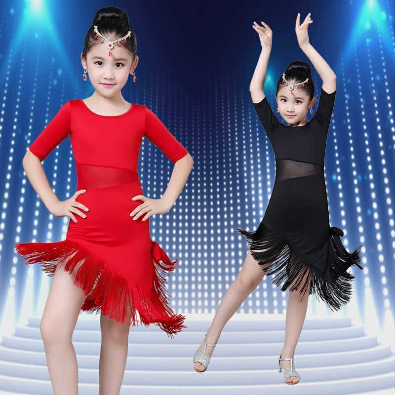 Songyuexiaกลางแขนยาวลูกไม้ตาข่ายโมเดิร์นบอลรูมเต้นรำชุดเด็กเซ็กซี่Salsa Tangoกระโปรงเด็กชุดเต้นรำละติน
