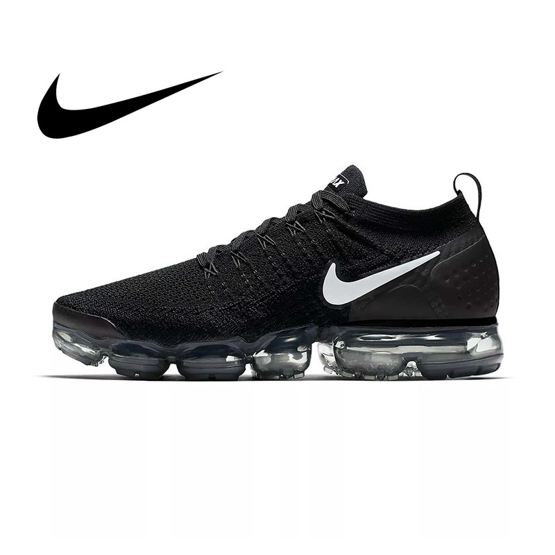 Original NIKE AIR VAPORMAX FLYKNIT 2.0 Men's Running Shoes Outdoor 2019 Summer New Breathable Fashion Sports Shoes 942842-001