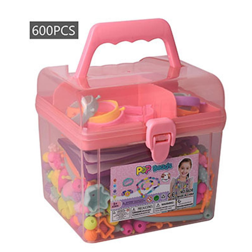 Pop Beads Girls Toys DIY Jewelry Making Kit Kids Snap Beads Jewelry DIY Set For Making Necklace Bracelet Ring Hairband Earrings