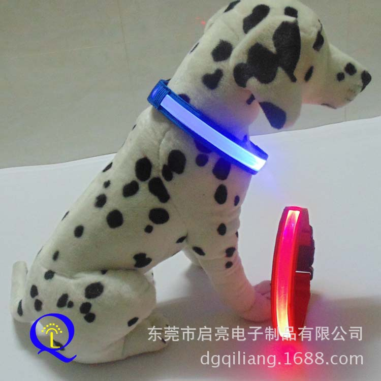 Highlight LED Dog Traction Neck Ring Dongguan High Quality Shining Dacron Dog Neck Ring Supply Of Goods