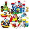 Große partikel Tier Bauernhof Dschungel Abenteuer Bausteine Kompatibel LegoING Duplo Steine Pädagogisches Spielzeug Für Kinder