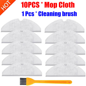 10pcs Mop Cloths Pads Washable Cloth Mopping Pad for Xiaomi Generation 2 Roborock S50 S51 S55 S5 Vacuum Cleaner Spare Parts