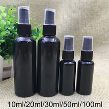 10ml 20ml 30ml 50ml 100ml Black Spray Bottle Empty Plastic Perfume Water Sprayer Container Cosmetic Makeup Face Toners Packaging 1piece lot 30ml 50ml 100ml new type of 50ml glass colour spray bottle tlc color rendering spray bottle with dribbling ball