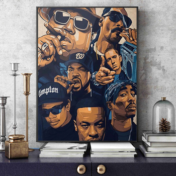 West Coast Hip Hop Tupac Music Poster