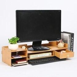 Pulpit TV szafka monitor komputerowy ekran zwiększona półka schowek na biurko szuflada półka półka na klawiaturę