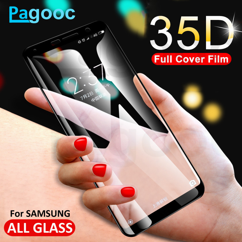 35D Protective Glass On The For Samsung Galaxy A6 A8 J4 J6 Plus 2018 J2 J8 2018 J2 J5 J7 Prime Tempered Screen Protector Glass
