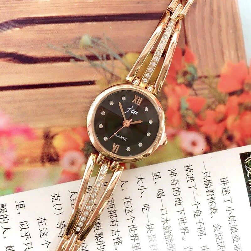 New Lovely Fashion Temperament High-grade Rose Gold Diamond Set Children Girl Student Girl Bracelet Watch