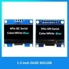 1.3 polegadas módulo oled branco/azul spi/iic i2c comunicar cor 128x64 1.3 polegada oled lcd display led módulo 1.3