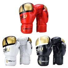 лучшая цена Men Women Kick Boxing Gloves PU Karate Muay Thai Guantes Gym Exercise Relieve Stress Fighting Sanda Training Adult kid Equipment