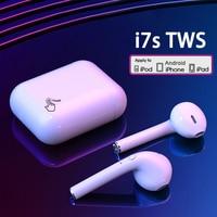 I7s TWS Drahtlose Kopfhörer Bluetooth Kopfhörer Luft Ohrhörer Sport Headset Mit Lade Box Für Xiaomi iPhone Android