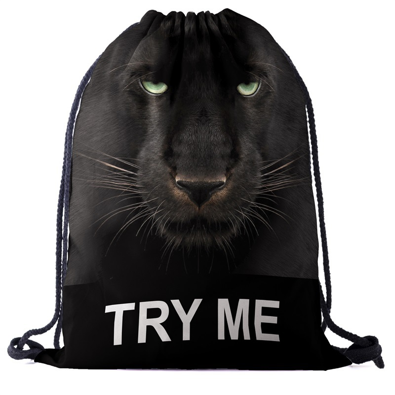 Bags Backpack Drawstring Drawstring Fashion 3D Printing Softback Men Bags Unisex Women's Shoulder Bag Knapsack Animal Factory