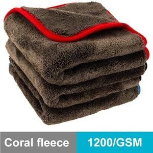Image 1 - 40x40cm 40x60cm 60x90cm 1200GSM Thick Car Wash Microfiber Towel Plush Cleaning Drying Cloth Car Care Cloth Detailing Polishing