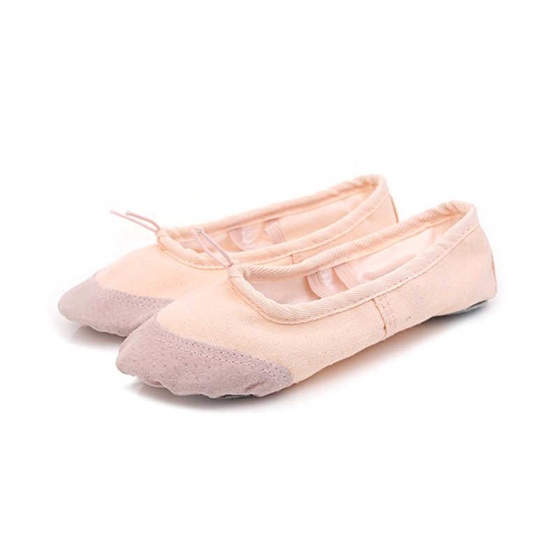 Pointe Giày Vải Bố Nữ Múa Ba Lê Giày Ballerina Giày Trẻ Em Giày Khiêu Vũ Mềm Mại Ba Lê Căn Hộ Cho Khiêu Vũ Da Lộn Mũi Miếng Lót Dép