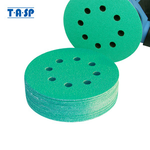 Image 1 - TASP 25 шт. профессиональная наждачная бумага 125 мм, 5 дюймов, пленочный шлифовальный диск, влажные и сухие абразивные инструменты с липучками и петлями, 60 ~ 400