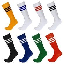 Football Striped Socks Cotton Breathable Soccer Knee Above Plain Long Baseball Hockey Tube Sport Outdoor