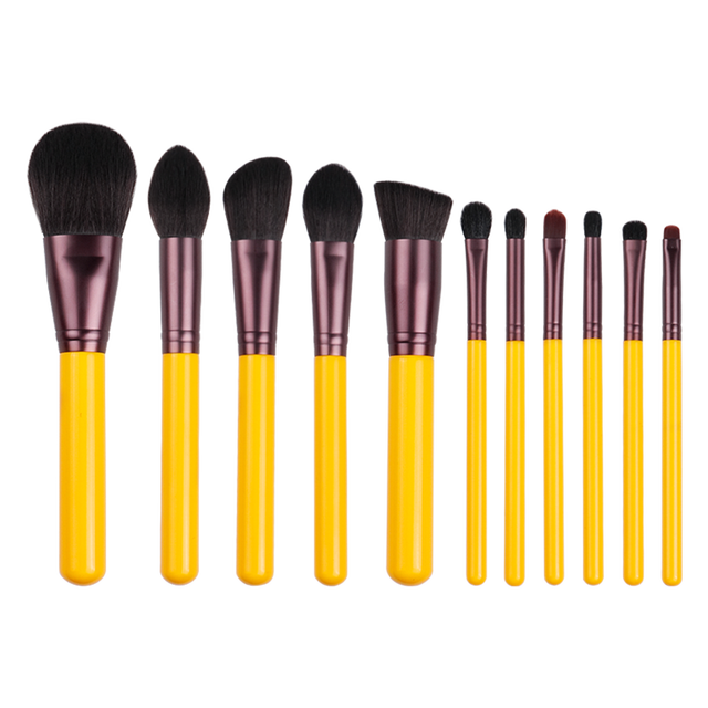 MyDestiny makeup brush-Yellow series 11pcs synthetic hair brushes set-face&eye cosmetic pen-artificial hair-beauty-beginer tool 5