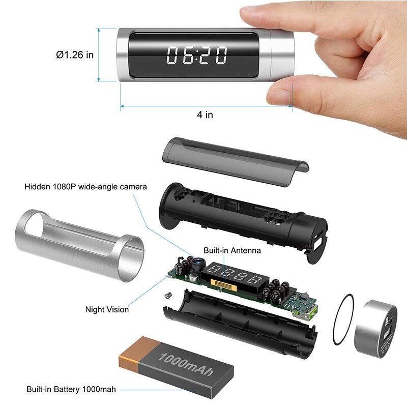 Full HD 1080 Wifi часы мини камера ночного видения P2P IP секретная камера Обнаружение движения микро DVR камера беспроводная безопасность мини камера - 3