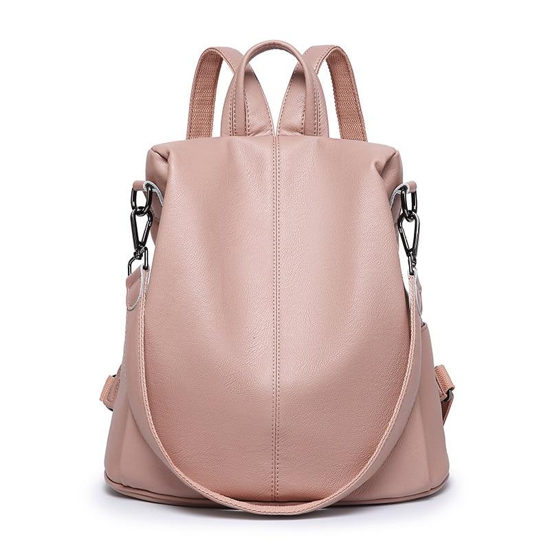 Ladies Travel Bag Genuine Leather Backpack Shoulder Bag Large Capacity Multi-functional Dual-use Backpack Women Rucksack C1133