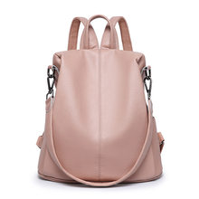 Ladies travel Bag genuine Leather backpack shoulder bag large capacity multi-functional dual-use backpack women rucksack C1133(China)