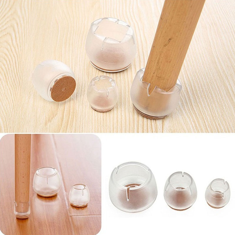 16pcs Round Silicone Furniture Table Feet Cover Chair Leg Caps Pads Floor Protectors Bottom Non-Slip Cups Home Decor Accessories