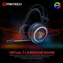 FANTECH HG15 USB Plug And Remote Professione Gaming Auricolare Grandi Cuffie con la Luce Mic Stereo Auricolari Per FPS