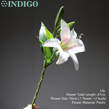 INDIGO- Single Real Touch Lily Home Flower Artificial Short Wedding Party High Quality Free Shipping