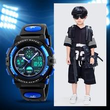 TurnFinger Children% 27s Цифровые Часы Светящиеся Хронограф Многофункциональные Водонепроницаемые На открытом воздухе Спорт Студент Роскошь Мода Тренд