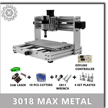CNC 3018 Max Metal GRBL control with 200W Spindle,3 Axis pcb Milling machine, metal body,Diy Wood Router support laser engraving