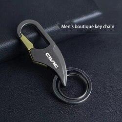 Car metal waist key chain high end crescent logo key chain for Nissan CIVIC logo si eg ek 8th 10th 2021 beat car accessories