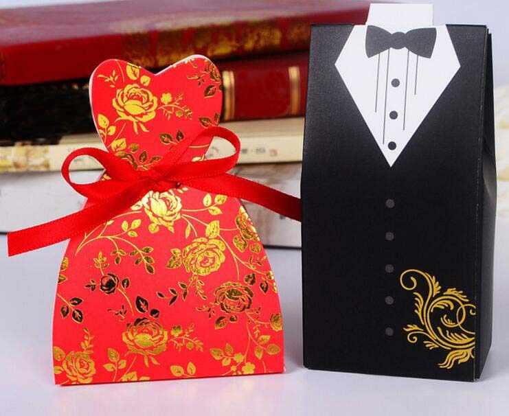 Merah Mawar Hitam Sesuai Gaun Permen Cokelat Kotak Hadiah untuk Ulang Tahun Pernikahan Dekorasi WH