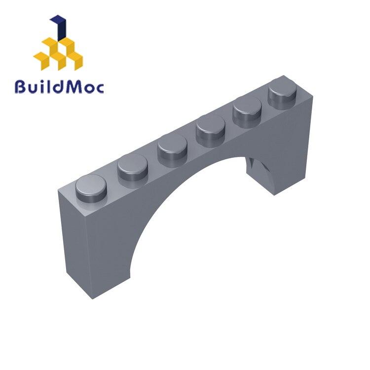 BuildMOC Compatible Assembles Particles 15254 Brick Arch 1x6x2 Building Blocks Parts DIY  Educational Creative Gift Toys