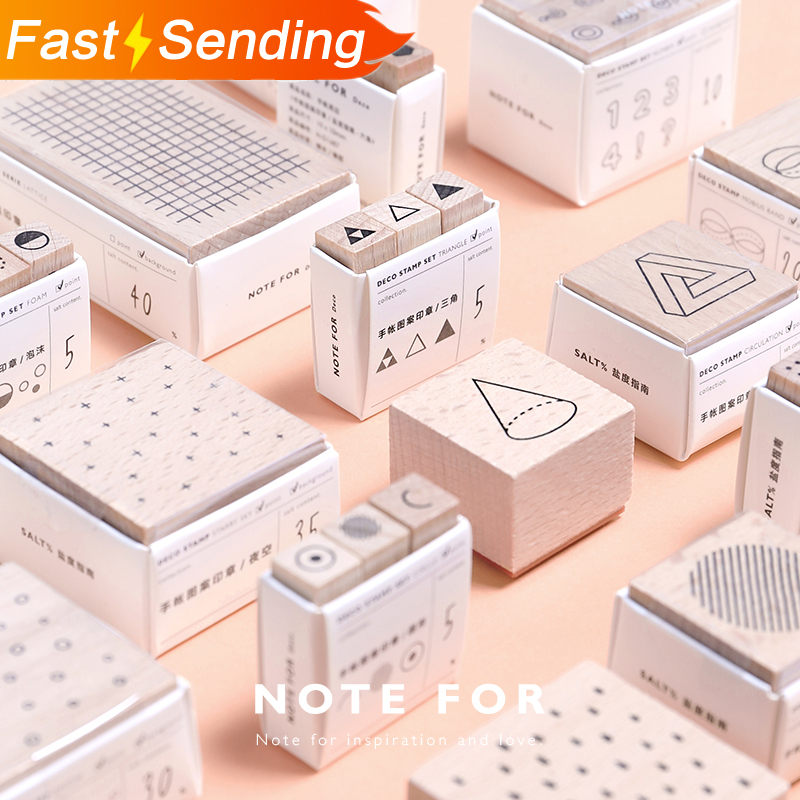 Creative Wooden Stamp Geometric Clear Stamps Wave DIY Bullet Journal For Scrapbooking Basic Decoration Seal Office Supplies