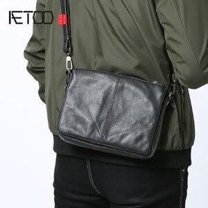 Image 1 - AETOO sac à main en cuir pour hommes, sacoche simple à épaule fashion, sacoche multifonctionnelle