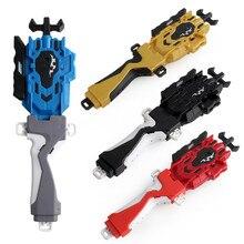 Lançador e aperto, batalhando lançador de corda de iniciantes de explosão superior, forte spining superior brinquedos acessórios (vermelho)