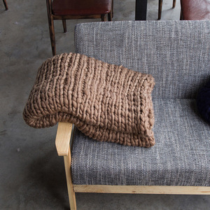Image 5 - 200*200cm szybki transport moda masywny koc z dzianiny gruba przędza wielkogabarytowe Knitting rzuć koce Sofa rzuć