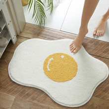 Creative Egg dywanik łazienkowy śmieszne wejście dywan dywaniki dywaniki kuchenne dywaniki wejściowe dywaniki dywaniki dekoracje domowe w stylu nordyckim tanie tanio Dorosłych Anti-slip ORIENTAL Zakończył dywan (szt) cartoon Drukowane Nowoczesne Salon Maszyna wykonana Podłogi bath