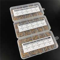 1500 Uds 30valoresx50 10pF ~ 10uF (100 ~ 106) kit surtido de condensadores de cerámica multicapa/monolítico con 3 cajas de almacenamiento