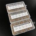 1500 piezas 30Valuesx50 10pF ~ 10uF (100 ~ 106) kit surtido de condensadores de cerámica multicapa/monolítica con 3 cajas de almacenamiento