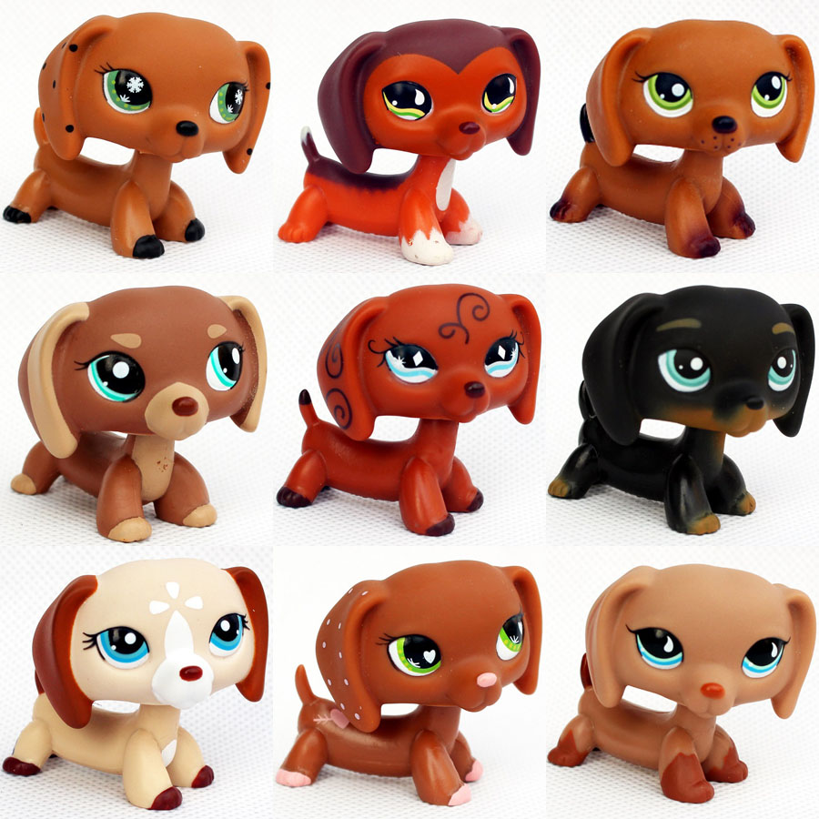 Original Pet Shop Toys Dachshund Dogs #675 #640 #932 #325 Gifts Collection Animals Figures Old Original