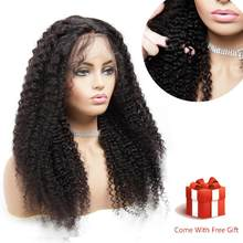 360 Lace Frontal Wig Pre Plucked Remy Curly Brazilian Hair Real Elite Human Hair For Black Women Frontal Ponytail Near Me Women's Wig(China)