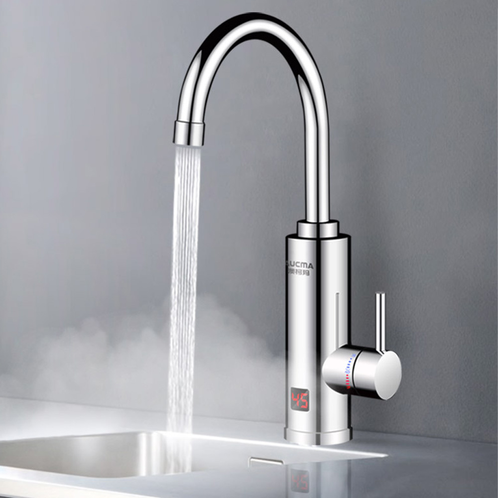 Instant Electric Water Heater Faucet 220V 3000W Fast Heating Electric Tap Instantaneous Boiler Kitchen Bathroom EU/UK Plug