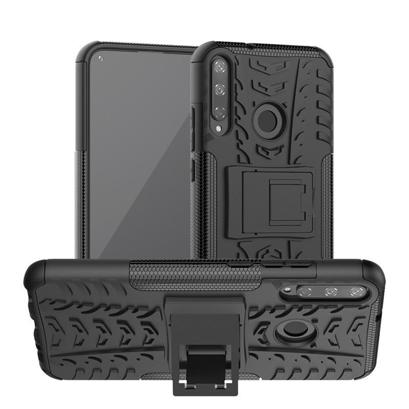 Armor Case For Huawei P40 Lite E Y3 2018 Y9S Y6S Y7P Cover Holder Protective Phone Bumper For Huawei Y6 2019 Y3 2017 Case Funda