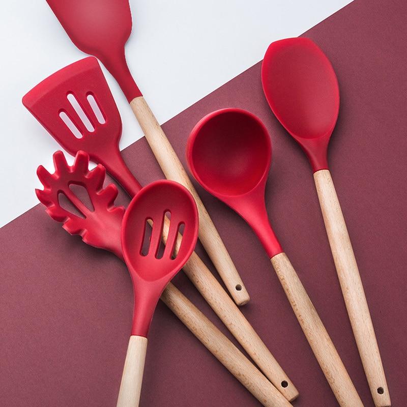 10/11/12/13 PCS Kitchen Utensils Set Red