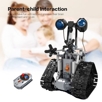 DIY Funny RC Intelligent Electric RC Car Robot Toys Winner 7112 2.4G Building Block Unassembled Car Robots Kit Toy For Kids Gift