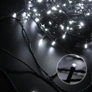 Image 5 - 10M 20M 30M 100M Wasserdichte LED Fairy String Lichter Girlande Weihnachten Party Hochzeit Weihnachten Urlaub Lichter outdoor Home Dekoration