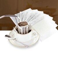 200 шт портативный капельный кофе порошок бумажные фильтры Висячие ухо капельный мешок фильтр