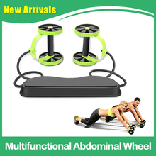 Fitness-Equipment Pull Abdominal-Muscle-Roller-Trainer Volume-Belly-Training Double-Wheel